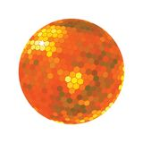 Discoball in orange tones Stock Image