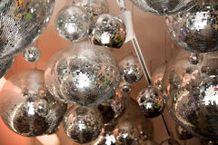 Discoball. Some disco balls expose for sell Royalty Free Stock Images