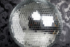 Discoball and wallpaper Stock Photos
