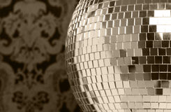 Discoball and wallpaper Royalty Free Stock Images