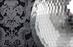 Discoball and wallpaper Royalty Free Stock Image