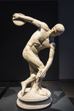 Discobolos The Discus Thrower in Rome, Italy. Rome, Italy - January 3, 2017: Roman statue of Discobolos The Discus Thrower by Myron in Rome, Italy in Rome, Italy Stock Photo