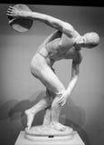 Discobolus classical ancient sculpture Stock Image