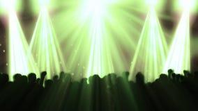 Discoflitsen en Menigte die, voorraadlengte dansen royalty-vrije illustratie