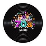 discografia di musica 70s illustrazione vettoriale
