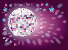 discokugel灰色粉红色 免版税库存图片