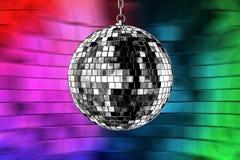 Discokugel mit Leuchten Stockbild