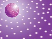 Discokugel mit Leuchten Lizenzfreie Stockfotografie