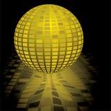 Discokugelgold Stockfoto