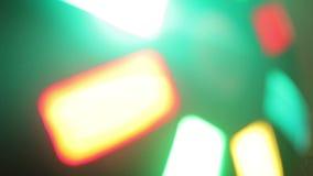 Discolicht met Bokeh stock video