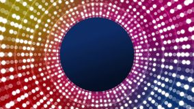 Discolichten met cirkels royalty-vrije illustratie