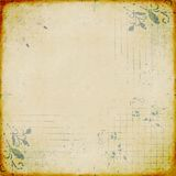 Discolored paper with stamped design Stock Photography