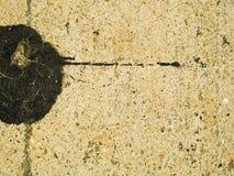 Discoloured Concrete. With black splotch Royalty Free Stock Photos