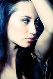 Discomädchen. Portrait des attraktiven Mädchens Lizenzfreie Stockfotografie