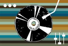 Discomusikhintergrund. lizenzfreie abbildung