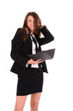Disconcerted businesswoman Stock Images
