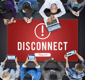 Disconnect Network Problem Technology Software Concept Royalty Free Stock Image
