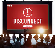 Disconnect Network Problem Technology Software Concept Royalty Free Stock Photography