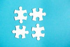 4 disconnected части мозаики Стоковое Изображение