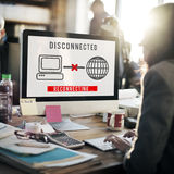 Disconnected Disconnect Error Inaccessible Concept royalty free stock photos