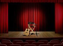 Disconnetta il concerto sulla fase immagine stock libera da diritti