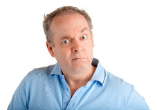 Discontent. A man is discontent about something Royalty Free Stock Image