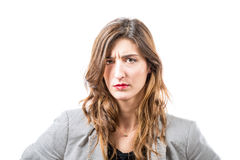 Discontented young woman. Royalty Free Stock Photos