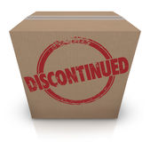 DIscontinued Cardboard Box Cancelled Product Out of Stock Royalty Free Stock Images