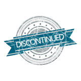 Discontinued stamp. Discontinued grunge rubber stamp on white Royalty Free Stock Photo