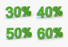Disconto 30-50% ilustração do vetor