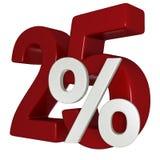 disconto de 25% Imagens de Stock