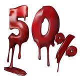Disconto do preço 50 da ilustração, derretimentos Imagem de Stock Royalty Free