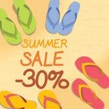 Disconto do verão de 20 por cento na areia ilustração stock
