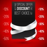 disconto Oferta especial com fitas Venda quente Foto de Stock Royalty Free