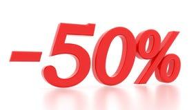 Disconto 50 por cento 3d Fotografia de Stock Royalty Free