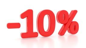 Disconto 10 por cento 3d 10% Fotos de Stock Royalty Free