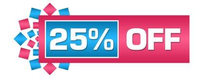 Disconto 25 por cento fora da barra circular azul cor-de-rosa Imagens de Stock Royalty Free