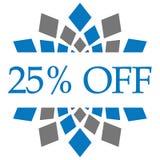 Disconto 25 por cento fora de Grey Circular azul Foto de Stock Royalty Free