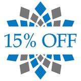 Disconto 10 por cento fora de Grey Circular azul Fotos de Stock