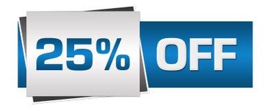 Disconto 25 por cento fora de Grey Horizontal azul Imagens de Stock Royalty Free