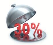 Disconto quente 30 por cento Fotografia de Stock