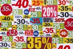 Discontos da venda do entalhe Imagens de Stock Royalty Free