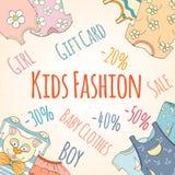 Discontos desenhados à mão da loja do bebê Imagens de Stock Royalty Free