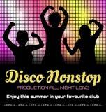 Discoplakat mit Tänzern Stockfotografie