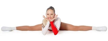Discorso dal giovane aerobics dell'atleta Fotografia Stock