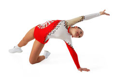 Discorso dal giovane aerobics dell'atleta Fotografia Stock Libera da Diritti