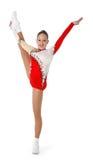 Discorso dal giovane aerobics dell'atleta Immagini Stock Libere da Diritti