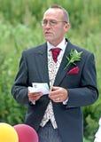 Discorso dello sposo Fotografie Stock Libere da Diritti