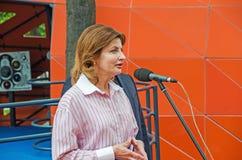 Discorso di Marina Poroshenko Fotografia Stock Libera da Diritti