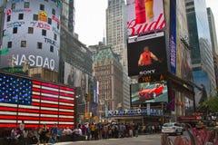 Discorso di Narendra Modi sullo schermo di Digital del Times Square Immagine Stock
